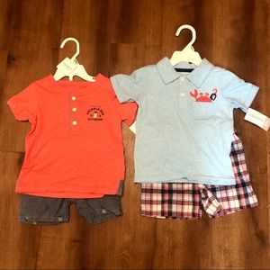 Carter's Baby Short Outfit Sets NWT Lot of 2 18M